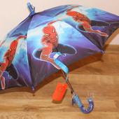 Красивые и яркие зонтики для мальчишек  человек паук