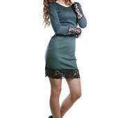 Платье с кружевом. В расцветках. Размеры: с,м,л (1б
