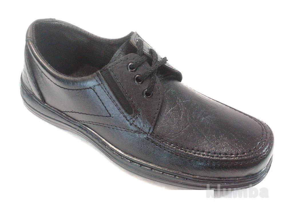 Туфли мужские чёрные на шнурках фото №1