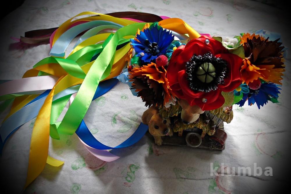 Украинский венок с лентами фото №1