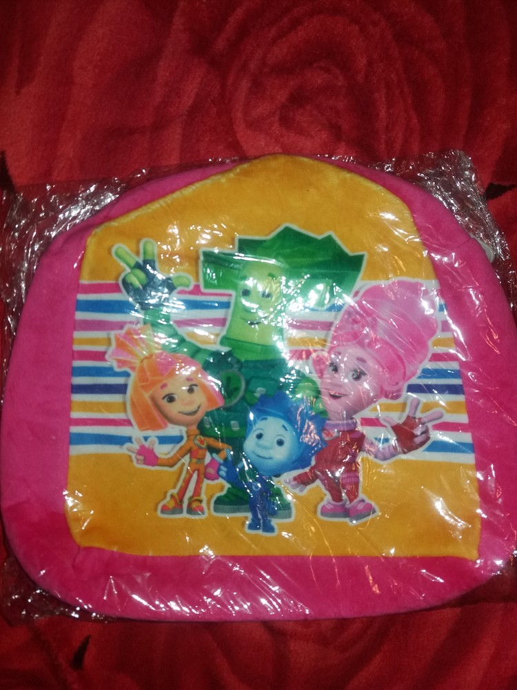 Детские рюкзаки плюшевые Фиксики 28 на 25 см фото №1
