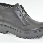 Женские ботинки из натуральной кожи Viva Black