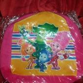 Детские рюкзаки плюшевые Фиксики 28 на 25 см
