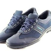 Спортивные туфли-кроссовки в синем цвете (К24)