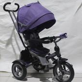 детский трехколесный велосипед сrosser т503 еco Кроссер Т 503 ЭКО надувные колеса, поворотное