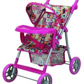 Прогулочная коляска для куклы с бампером «Milana»арт.: 9366-T
