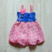 Новое нарядное платье для девочки. Юбка на подкладке. Доступно в размерах: 10 месяцев, 12 месяцев