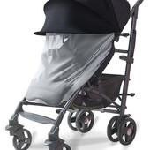 Новинка! Козырек от солнца на коляску с большой москитной сеткой, для коляски, капюшон от ветра