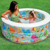 Надувной бассейн компактный