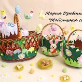 Пасхальные корзинки для детей, Куличик из фетра, яйца декупаж. Пасхальная корзина, атрибуты из фетра