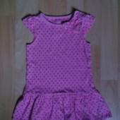 Трикотажное платьице, платье 1 год