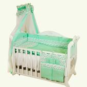 Детская постель Twins Premium P-032 Пташки mint