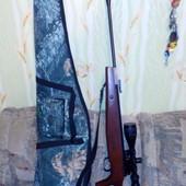 Пневматическая винтовка Shanghai с лазером и чехлом