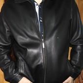 .Стильная фирменная шкіряна кожаная курточка Yierman.52 хл .