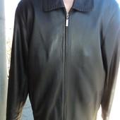 Фірмова  шкіряна кожаная курточка Yierman.52 хл .