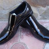Туфли мужские. А-152-R. натуральная лакированная кожа