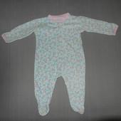 Пижама-слип,человечек котоновый,6-12мес.