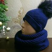 Комплект шапка+снуд (свяжу на заказ)