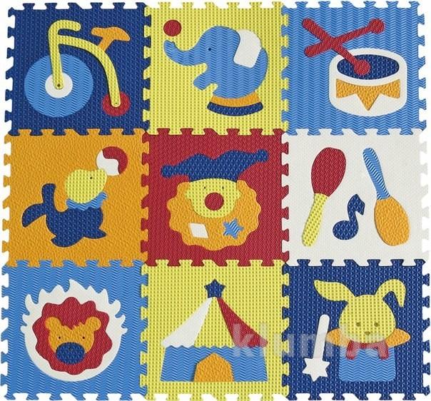 Детский игровой коврик-пазл «удивительный цирк» фото №1