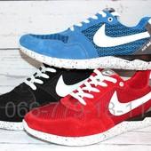 Летние мужские кроссовки Nike замшевые, сетка, 2 цвета