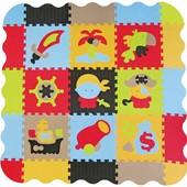 Детский игровой коврик-пазл «Приключение пиратов» с бортиком