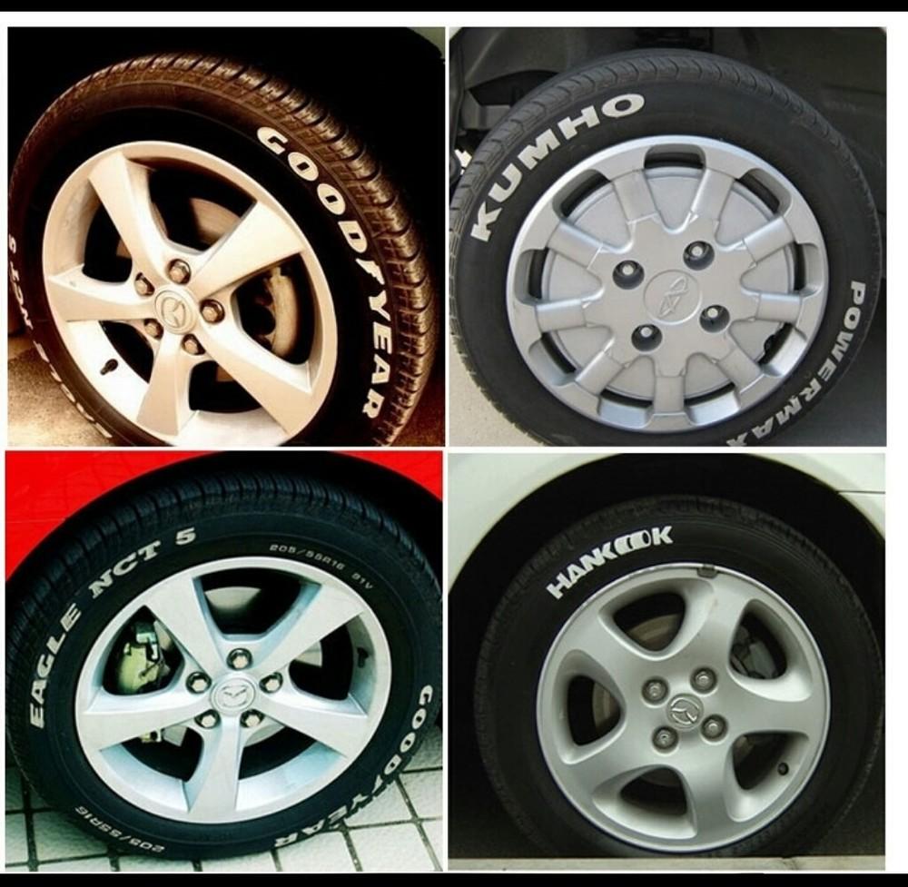 Маркер для шин,колес белый. фото №1