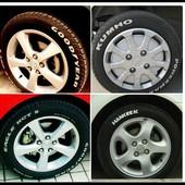 Маркер для шин,колес белый.
