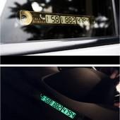 Светящаяся табличка с номером телефона для авто