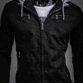 Демисезонная куртка с отстегивающимся капюшоном S,XL (2з