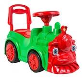Машина для катания Орион Паровозик 761 зеленый