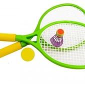 Набор для игры в теннис - две ракетки, воланчик, мяч. артикул 6721B