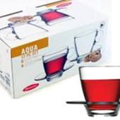 Аква чашка с блюдцем 215мл. 1/6 шт. Pasabahce 95040