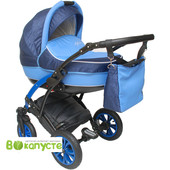 Универсальная коляска детская Anmar Infiniti 02N синий цвет