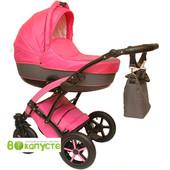 Универсальная коляска детская Anmar Infiniti 09, цвет розовый + коричневый
