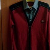 Отличный пуловер-обманка 46-48 размер
