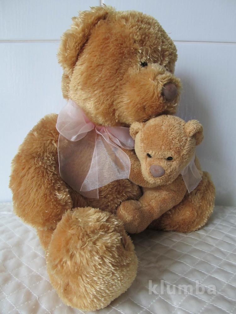 Мягкая игрушка мама-медведица и мишка фото №1