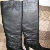 Продам кожаные сапоги 37-38 р.