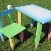 Детский столик и стульчик из дерева