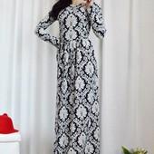 Платье в пол с орнаментом