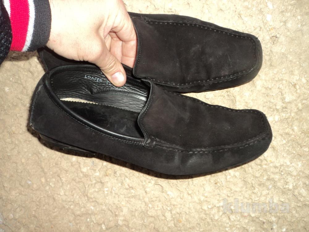Стильние фирменние замшевие кожание макасини  туфли .42 фото №1