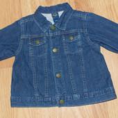 Фирменный джинсовый пиджак для ребенка 12-18 месяцев, 86 см