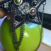 Аксессуар украшение звёздочка с цепочками на пиджак кардиган Подарок