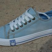 Женские кеды низкие аналог converse all star синие конверс конверз олл ал стар джинсовые джинс