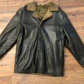Натуральная дубленка куртка XL натуральный мех