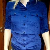 Котон! не блестит! фото на телефон(Рубашка -кофточка натуральная классная на выбор цвет!