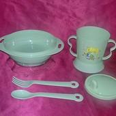 Набор детской пластиковой посуды для кормления