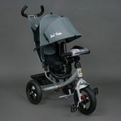 Велосипед трехколесный Best Trike серии 6588 В с фарой и музыкой надувные колеса