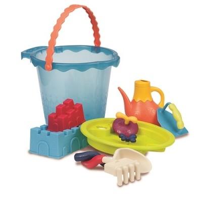 Набор для игры с песком и водой - мега-ведерце море (9 предметов) фото №1