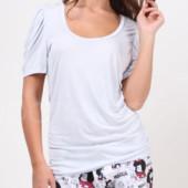 Распродажа - футболка женская голубая S, M от Oysho