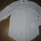 новая мужская рубашка Gant  р.L 100%лён   (сток на дефекты проверено)